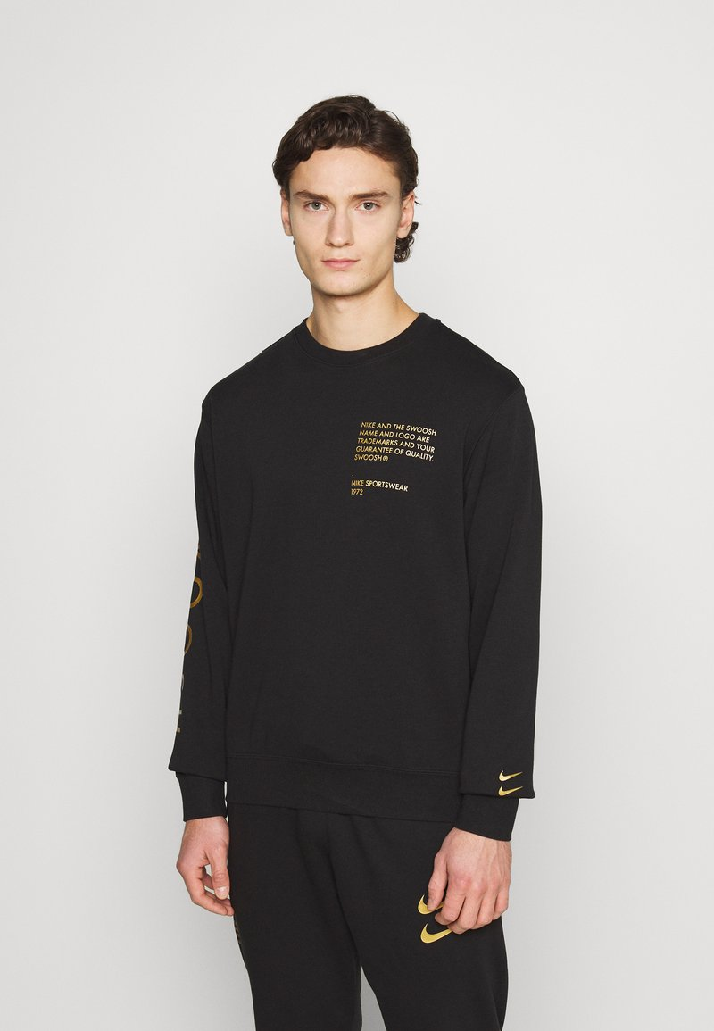 Nike Sportswear - CREW - Sweatshirt - black/gold foil