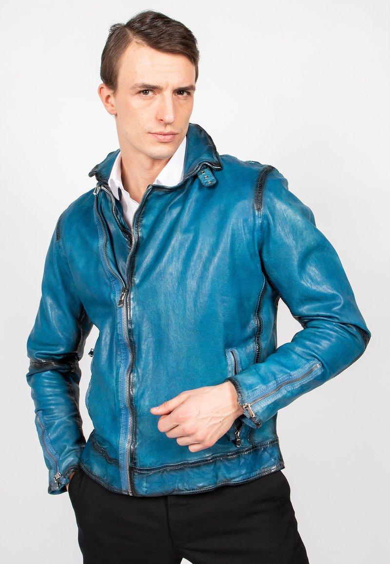 Freaky Nation - BENBLUE-FN - Leather jacket - multiple blue