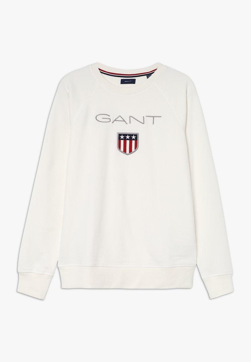 GANT - SHIELD LOGO NECK - Sweater - eggshell