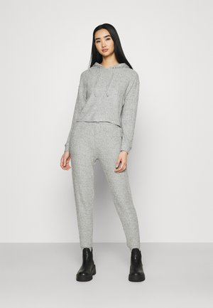 COSY BRUSHED JOGGER AND HOODY SET - Strickpullover - grey