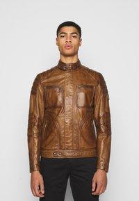 Belstaff - WEYBRIDGE JACKET - Leather jacket - burnished gold - 0