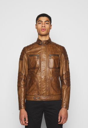 WEYBRIDGE JACKET - Leather jacket - burnished gold