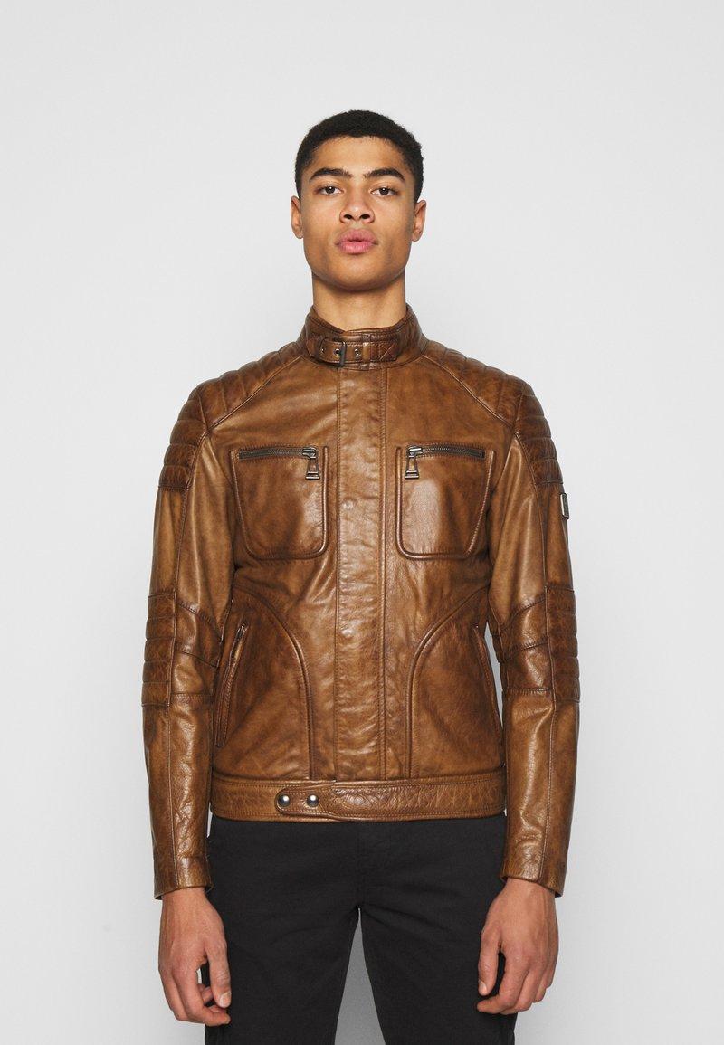 Belstaff - WEYBRIDGE JACKET - Leather jacket - burnished gold