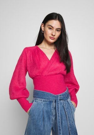 LOVE STRONG KNIT TOP - Pullover - pink woodgrain