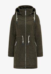 Krátký kabát - oliv melange
