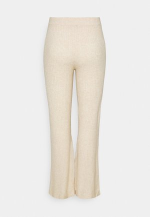 NMALLY LOOSE PANT CURVE - Trousers - off white / melange