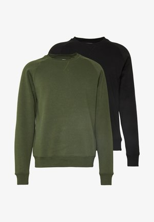 2 PACK - Sweatshirt - khaki/black