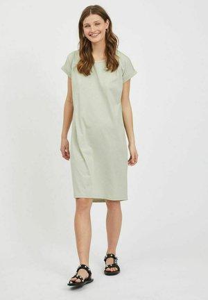 VIDREAMERS - Jersey dress - desert sage
