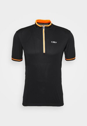 MAN BIKE - Triko s potiskem - nero/orange