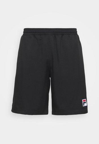 SHORTS LEON - Sports shorts - black