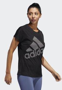 adidas Performance - BADGE OF SPORT T-SHIRT - Print T-shirt - black - 3