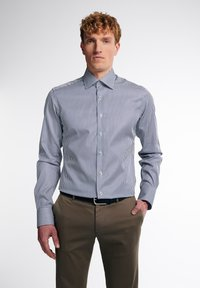 Eterna - SLIM FIT - Formal shirt - marine/weiß - 0
