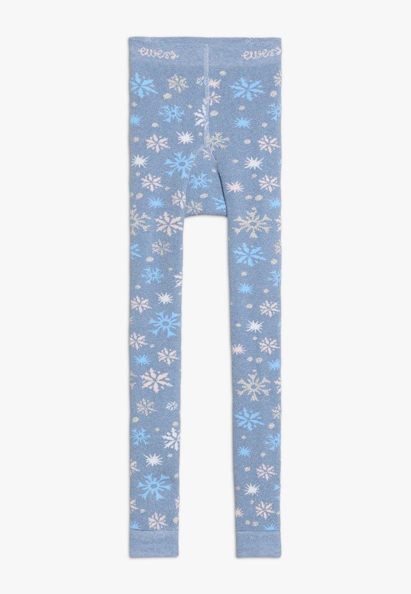Ewers - SCHNEEFLOCKEN GLITZER - Leggings - light blue