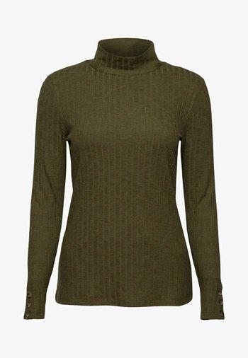 HIGHNECK - Long sleeved top - dark khaki