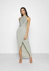Lace & Beads - AVALON WRAP MAXI - Společenské šaty - sage - 0