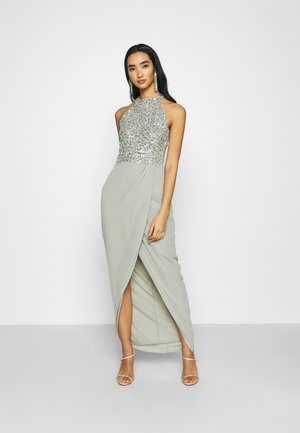 AVALON WRAP MAXI - Robe de cocktail - sage