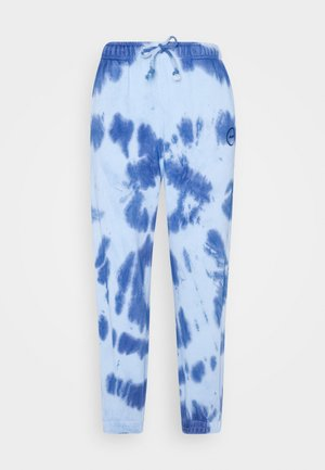 SMUDGE TIE DYE JOGGER - Tracksuit bottoms - blue