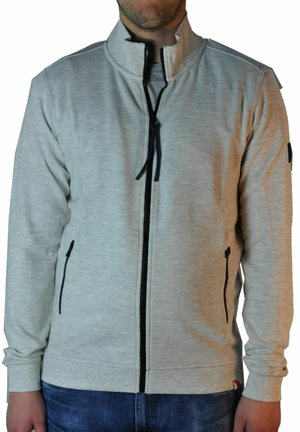 Zip-up hoodie - cream white melange