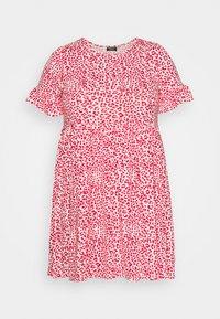 Simply Be - FRILL SLEEVE SMOCK DRESS - Jersey dress - pink - 5