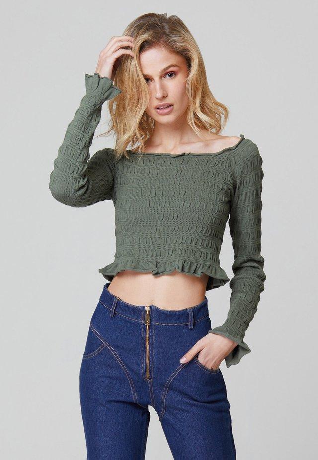 OLIVIA SHIRRED - Långärmad tröja - green militar