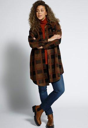 Button-down blouse - pinienbraun