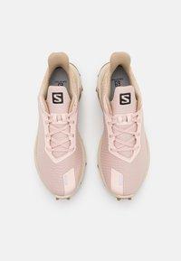 Salomon - ALPHACROSS 3  - Trail running shoes - peachy keen/rainy day/kelp - 3