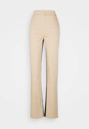 PANTALONI TROUSERS - Trousers - black/mastic