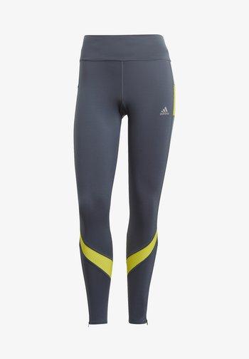 RESPONSE AEROREADY SPORTS RUNNING LEGGINGS - Leggings - legacy blue/acid yellow
