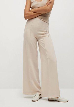 JUSTOC - Spodnie materiałowe - beige