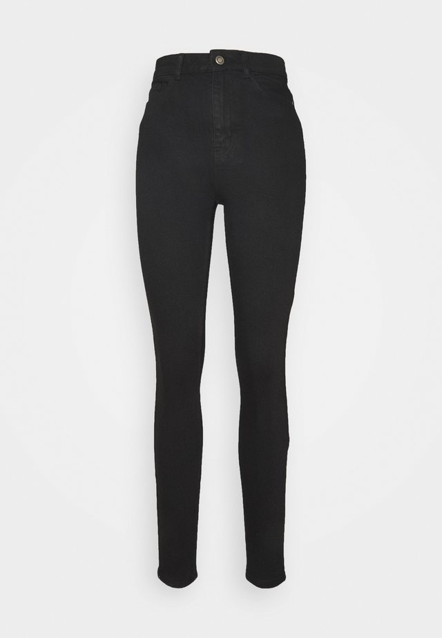 PCKAMELIA - Jeansy Skinny Fit - black denim