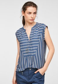 faded blue stripes
