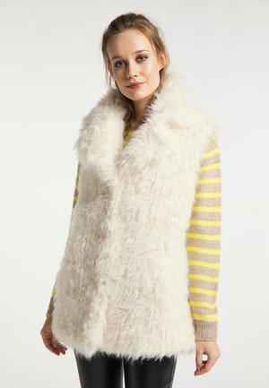 FAKE-FUR FELLWESTE KAYLA - Waistcoat - off-white
