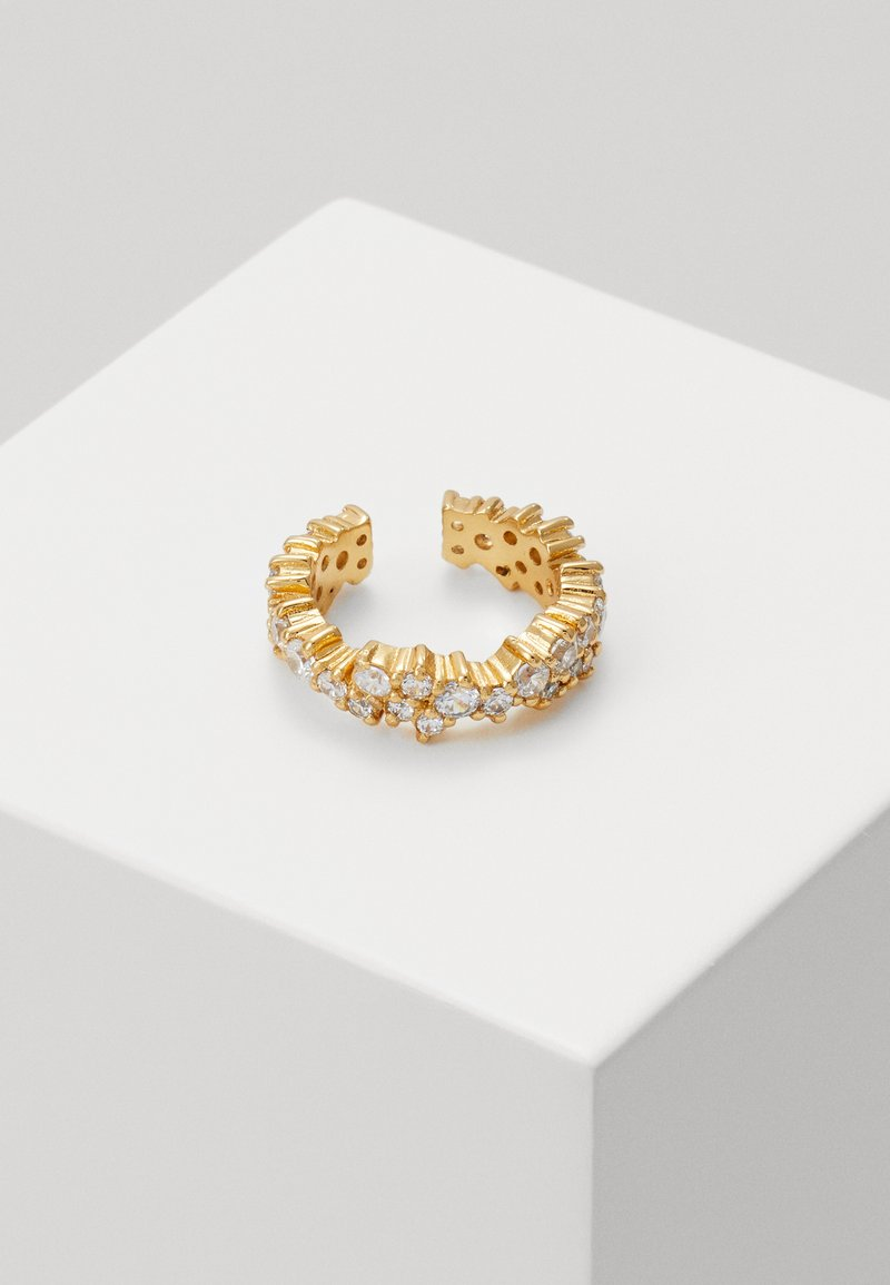 Orelia - CLUSTER SINGLE EAR CUFF - Earrings - pale gold-coloured