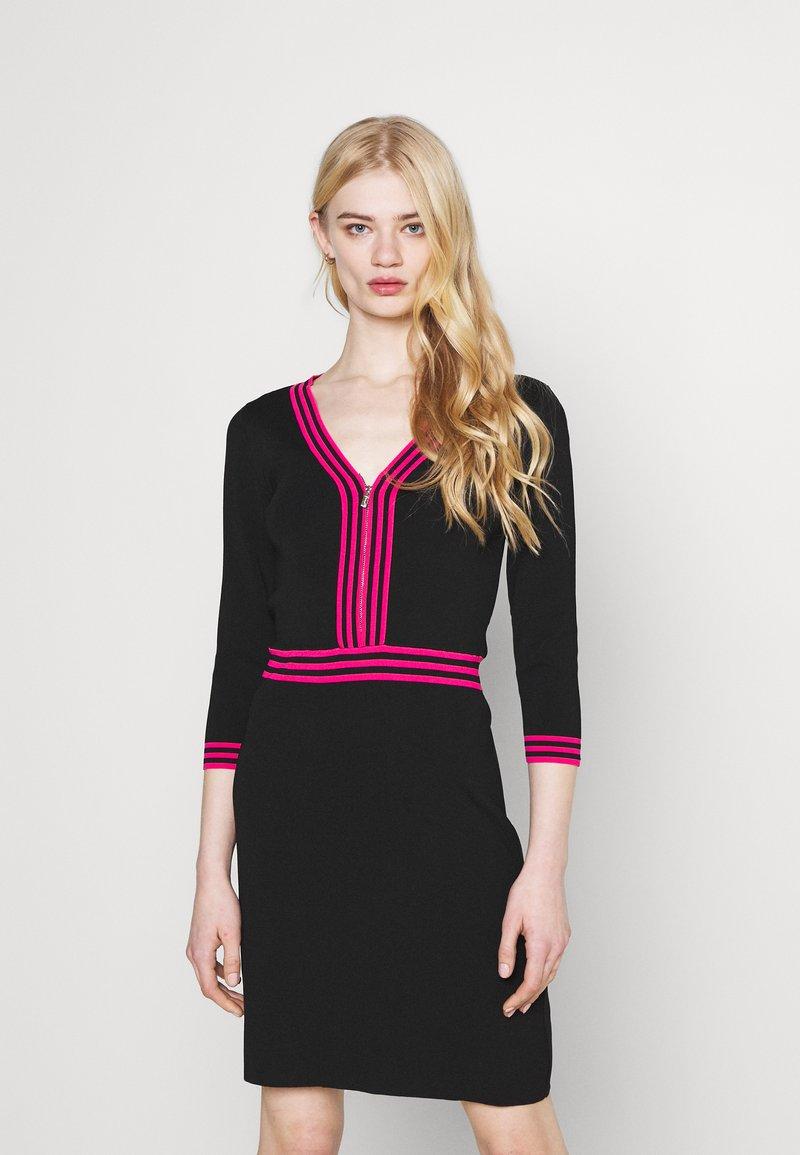 Morgan - Shift dress - noir/bonbon