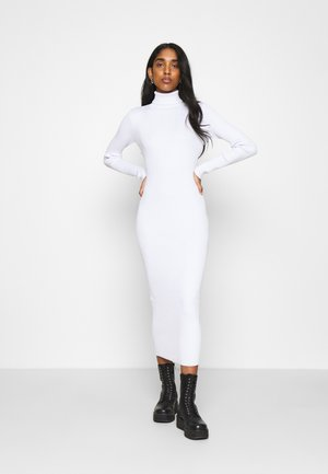 ROLL NECK MIDI DRESS - Shift dress - off white
