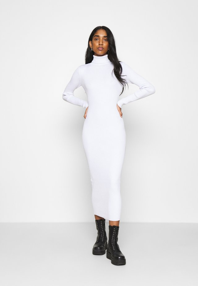ROLL NECK MIDI DRESS - Jumper dress - off white