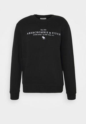 LOGO CREW - Sweatshirt - black