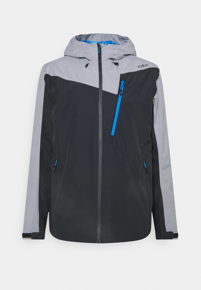 MAN ZIP HOOD JACKET - Outdoorová bunda - antracite