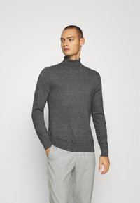 Burton Menswear London - FINE GAUGE ROLL  - Jumper - grey - 0