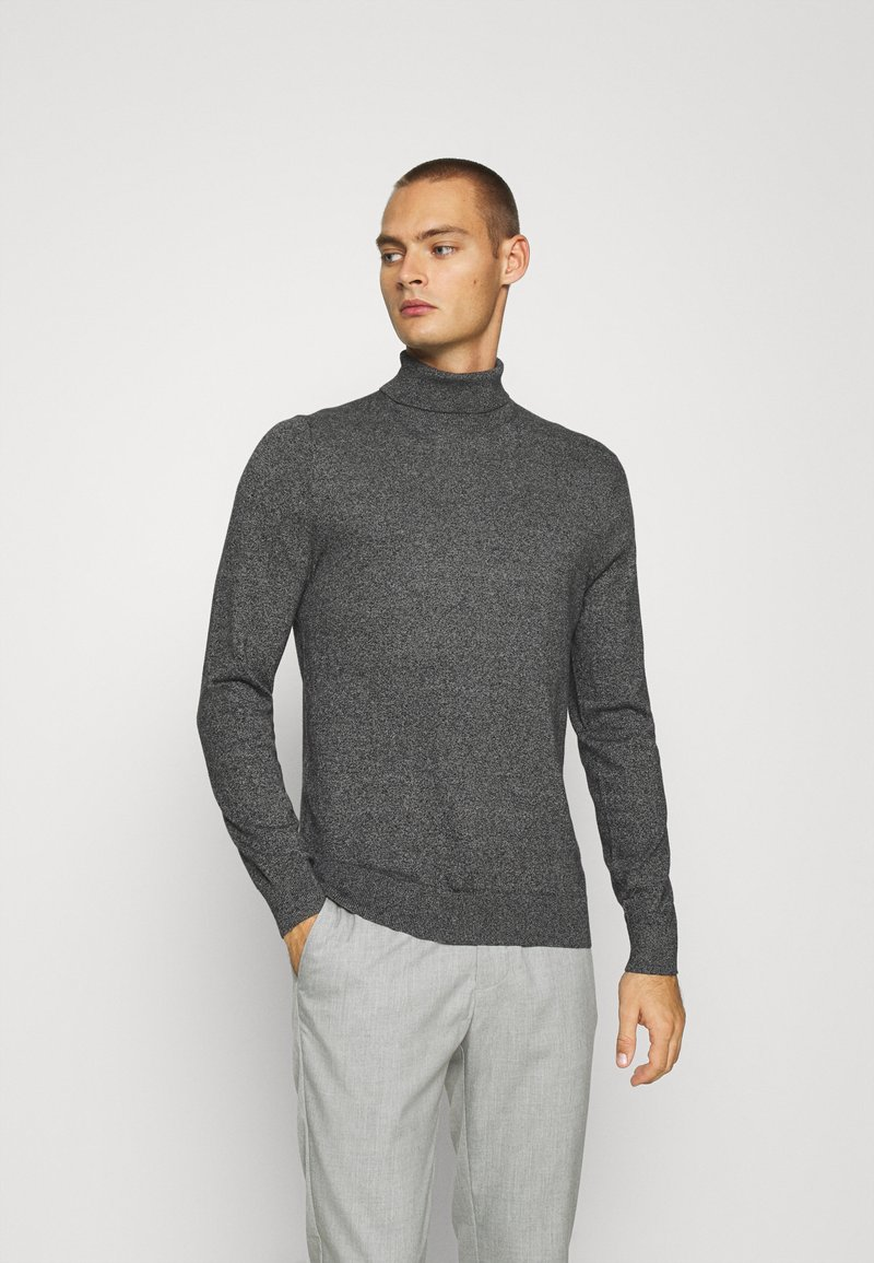 Burton Menswear London - FINE GAUGE ROLL  - Jumper - grey