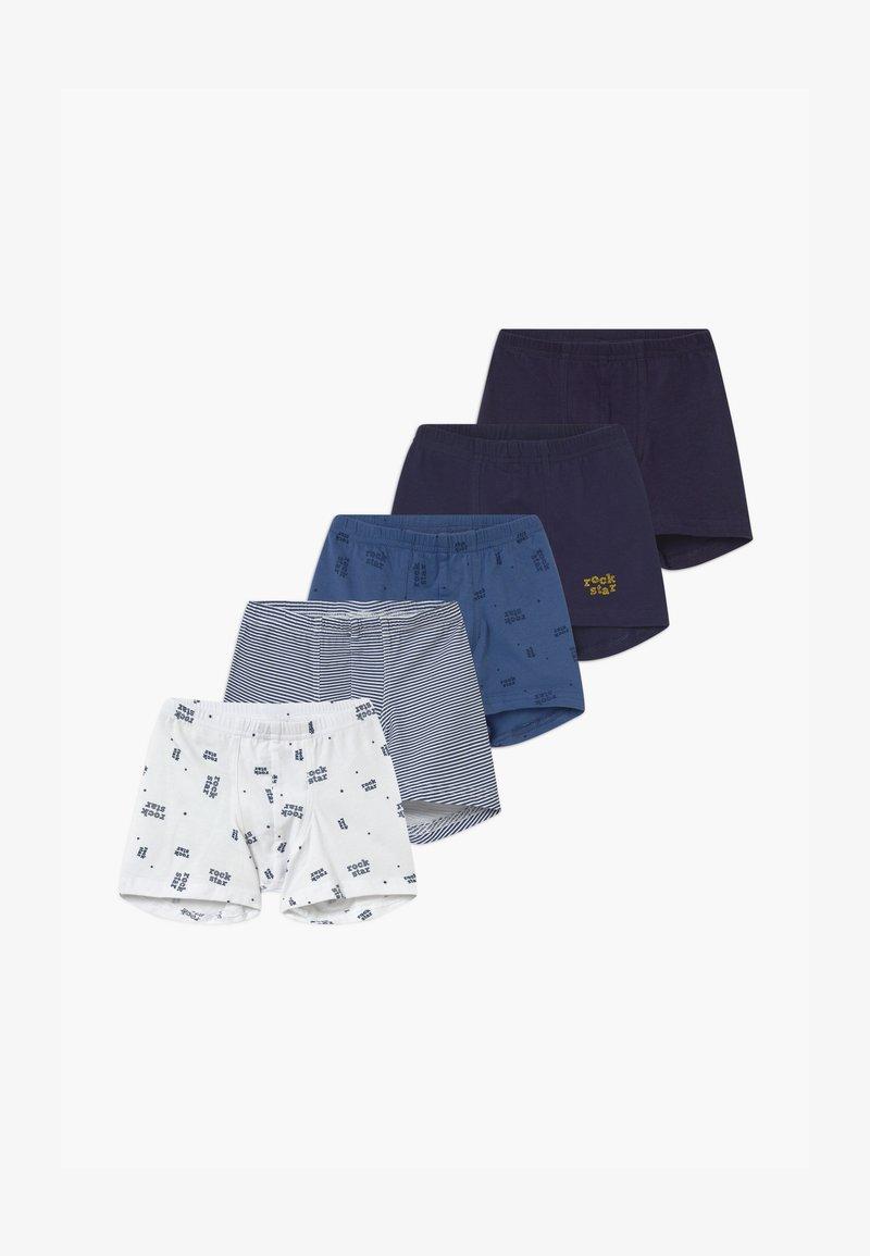 Schiesser - KIDS 5 PACK - Pants - dark blue/white