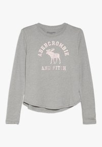 Abercrombie & Fitch - LOGO GRAPHIC - Langærmede T-shirts - grey - 0
