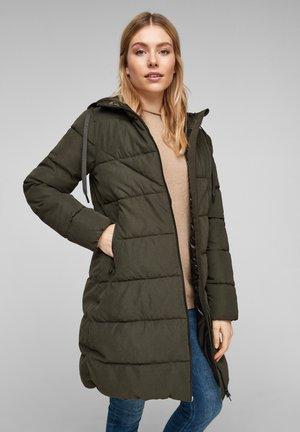 MIT GLÄNZENDEN DETAILS - Winter coat - olive