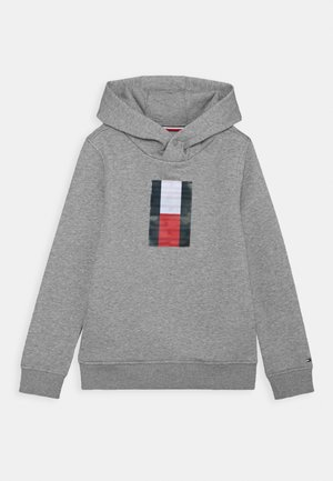 FUN BADGE HOODIE - Mikina s kapucí - grey