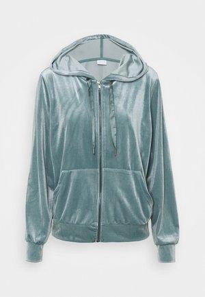 VIVELVETTA ZIP HOODIE - Zip-up hoodie - goblin blue