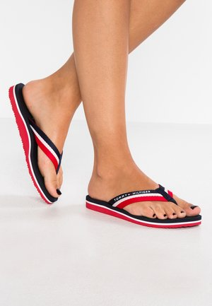 LOVES BEACH - Sandalias de dedo - blue