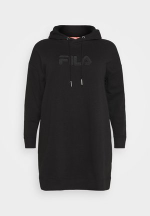 TEOFILA OVERSIZED HOODY DRESS - Kjole - black