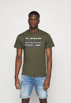 ORIGINALS STRIPE LOGO - Print T-shirt - combat