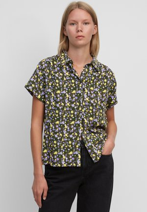 Button-down blouse - multi/burnished logs