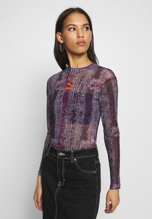 MESH BODY - Long sleeved top - pickled beet